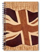 United Kingdom Flag Coffee Painting Spiral Notebook