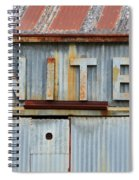 United Rusted Metal Sign Spiral Notebook