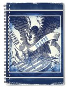 United States Blue Spiral Notebook