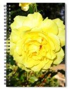 Upbeat Yellow Rose Spiral Notebook