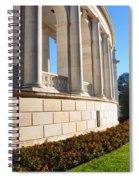 Upclose Of Arlington Memorial Amphitheater Spiral Notebook
