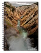 Upper Yellowstone Falls Spiral Notebook