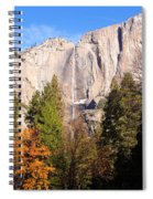 Upper Yosemite Falls In Autumn Spiral Notebook