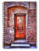Urban Door In Old Brick Building Spiral Notebook