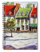 Urban Montreal Street By Prankearts Spiral Notebook