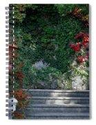 Urn And Steps At A Villa On Lake Como Spiral Notebook