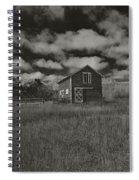 Utah Barn In Black And White Spiral Notebook