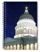Utah Capitol Building At Twilight Spiral Notebook
