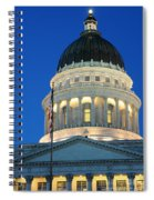 Utah State Capitol Building Dome At Sunset Spiral Notebook