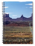 Utah, Usa Highway And Rock Formations Spiral Notebook