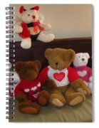 Valentine Bears  Spiral Notebook