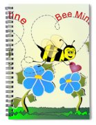 Valentine Bee Mine Spiral Notebook