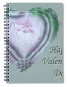 Valentine Pink Tree Peony Spiral Notebook