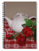 Valentine Tea For Two  Spiral Notebook