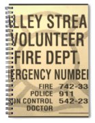 Vallet Stream Fire Department In Sepia Spiral Notebook
