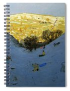 Valley And Sunlit Hillside Spiral Notebook