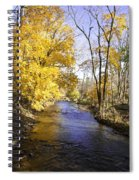 Valley Forge Creek In Autumn Spiral Notebook