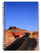 Valley Of Fire Road And Sky Nevada Spiral Notebook