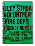 Valley Stream Fire Department In Irish Green Spiral Notebook