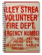 Valley Stream Fire Department Spiral Notebook