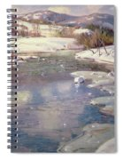 Valley Stream In Winter Spiral Notebook