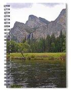 Valley View Of Bridalveil Falls Spiral Notebook