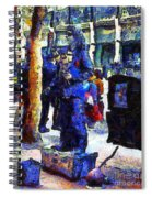 Van Gogh Is Captivated By A San Francisco Street Performer . 7d7246 Spiral Notebook