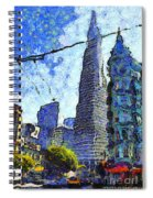 Van Gogh Sips Absinthe And Takes In The Views From North Beach In San Francisco . 7d7431 Spiral Notebook