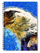 Van Gogh.s American Eagle Under A Starry Night . 40d6715 Spiral Notebook