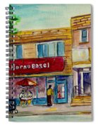 Van Horne Bagel And Yangtze Restaurant Sketch Spiral Notebook