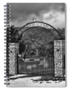 Vance Cemetery Black And White Spiral Notebook