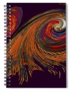 Variegated Abstract Spiral Notebook