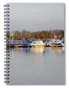 Various Boats At Barton Marina Spiral Notebook