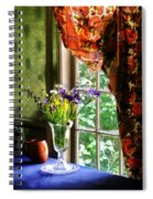 Vase Of Flowers And Mug By Window Spiral Notebook