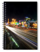 Vegas Light Trails Spiral Notebook