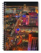 Vegas Strip Spiral Notebook