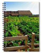 Vegetable Farm Spiral Notebook