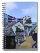 Venice Beach Wall Art 2 Spiral Notebook