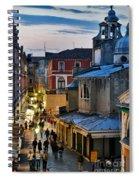 Venice From Ponte Di Rialto Spiral Notebook