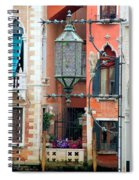 Venice Lamp Spiral Notebook