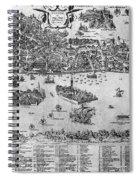 Venice: Map, C1566 Spiral Notebook