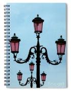 Venitian Lamp Posts Venice Italy Spiral Notebook
