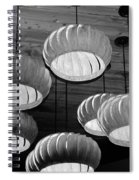 Vented Lights In Black And White Spiral Notebook