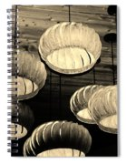 Vented Lights In Sepia Spiral Notebook