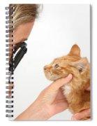Vet Examining Kitten Spiral Notebook