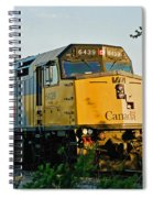 Via Rail Engine Spiral Notebook