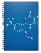 Viagra Molecular Structure Blueprint Spiral Notebook