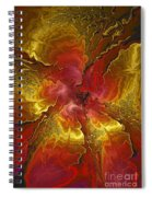 Vibrant Red And Gold Spiral Notebook
