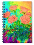 Vibrant Roses Spiral Notebook