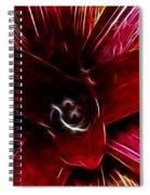 Vibrant Succulent  Macro Spiral Notebook